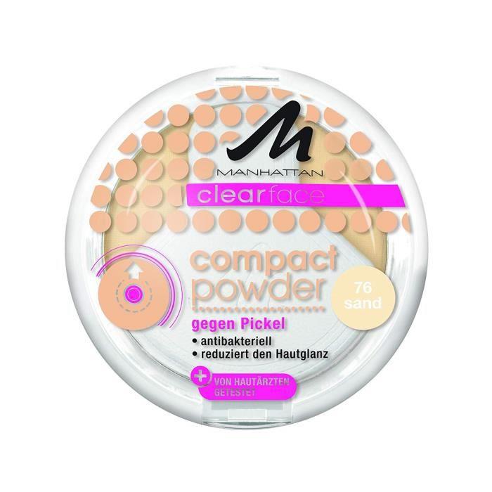 FOND DE TEINT - BASE Manhattan Poudre compacte Clear face Sable 76 9 g