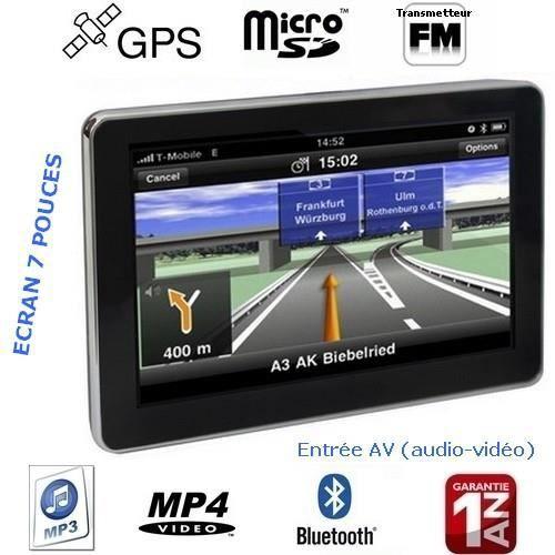 GPS AUTO GPS Bluetooth 7 pouces Système vocal Transmetteur