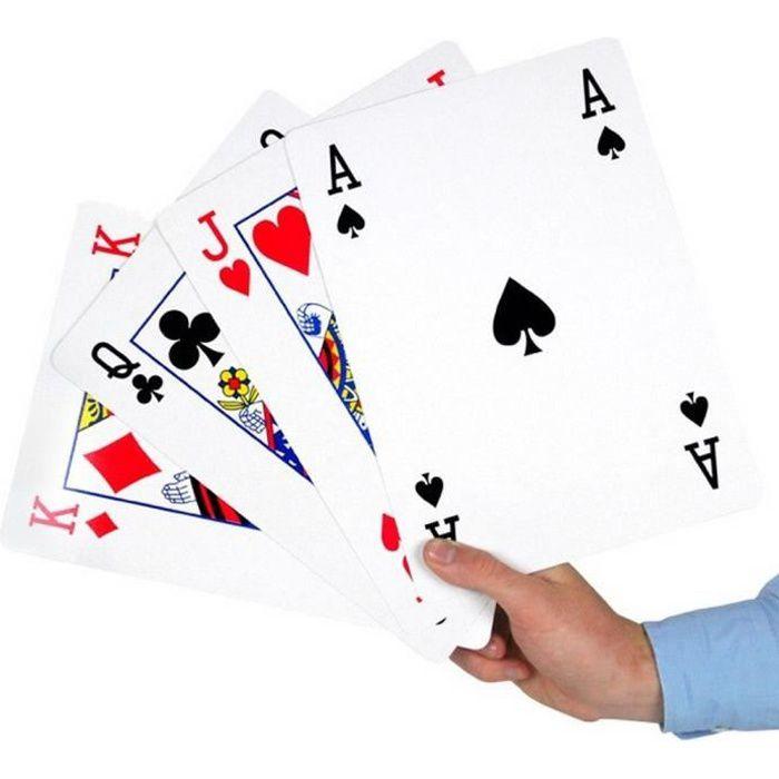 Jeux De 54 Cartes Xxl Carte Geante 28 X 20 Cm Achat Vente Cartes De Jeu Cdiscount