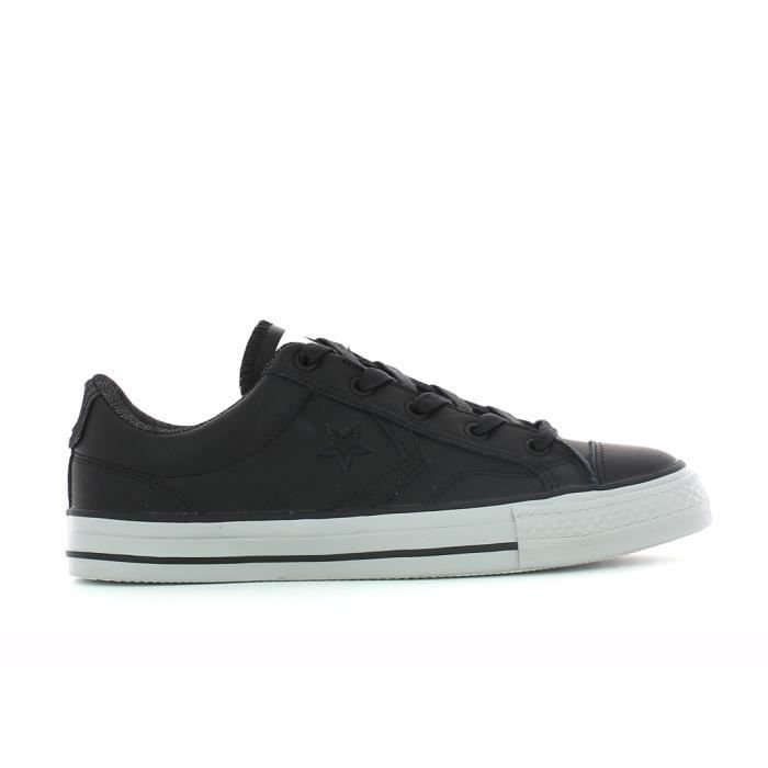 converse star player cuir noir