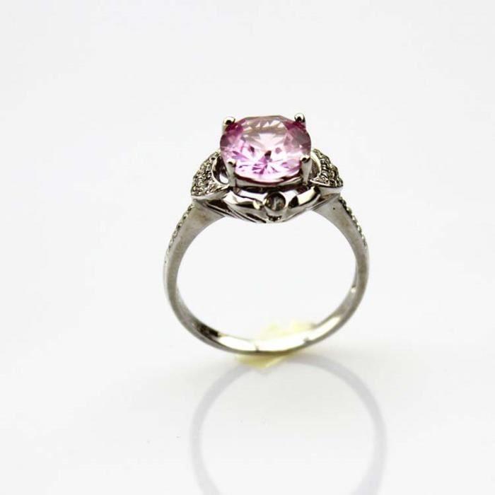 VINTAGE 925 argent or jaune plaque blanc topaz Gemme Mariage Fashion Ring!!!