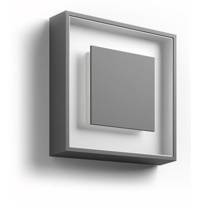Philips led ext rieur sand ip44 h25 cm anthracite 25 6 for Eclairage exterieur gris anthracite