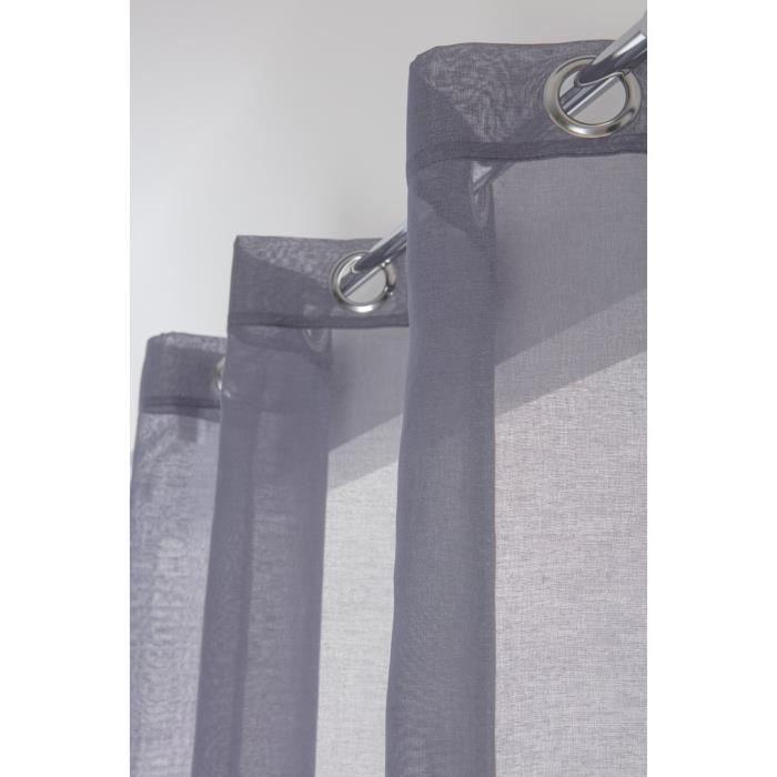 voilage bleu gris