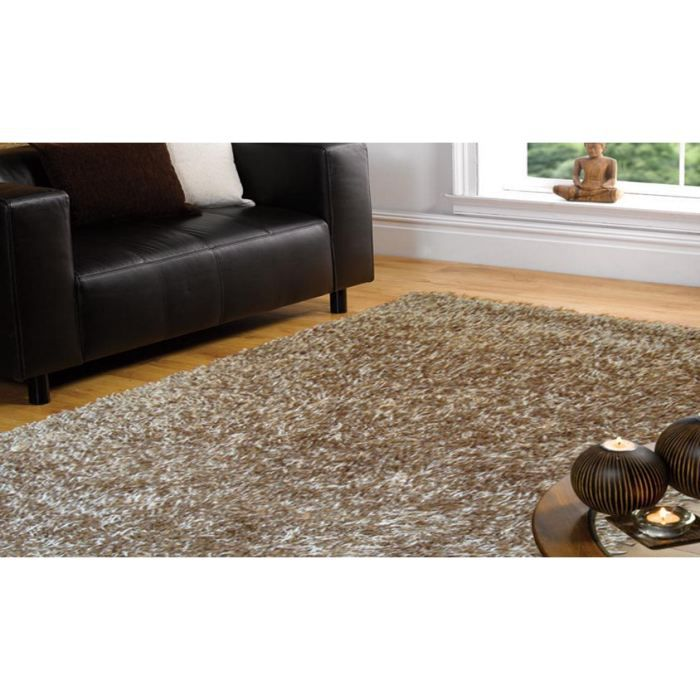 tapis poils long spider champagne cm 150x210 achat vente tapis cdiscount. Black Bedroom Furniture Sets. Home Design Ideas