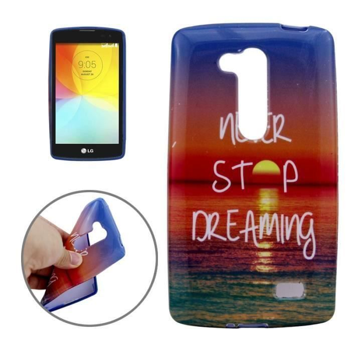 telephonie telephone fixe wofalo r coque never stop dreaming tpu pour lg g f  wof