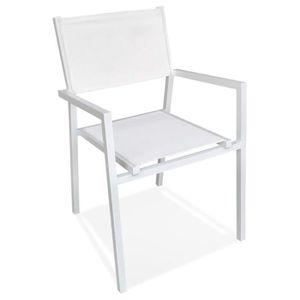FAUTEUIL JARDIN  Chaise de jardin empilable 'KOS' en aluminium et m