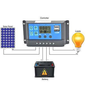 CHARGEUR DE BATTERIE Panneau solaire Régulateur de charge du contrôleur