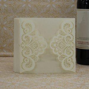 FAIRE-PART - INVITATION 20 pcs délicate sculpté romantique enveloppe de ca