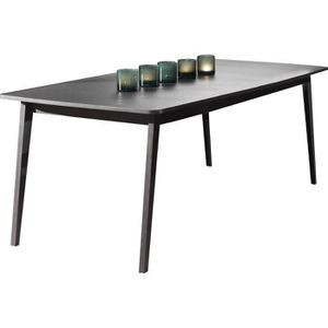table extensible chene gris achat vente table extensible chene gris pas cher cdiscount. Black Bedroom Furniture Sets. Home Design Ideas