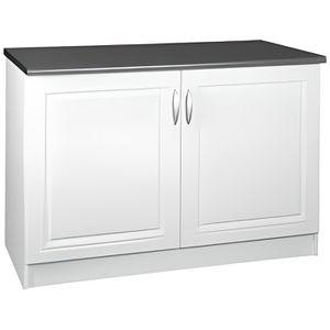 ELEMENTS BAS Meuble cuisine bas 120 cm 2 portes DINA blanc