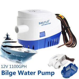 POMPE DE CALE 12V 1100GPH Pompe de Cale Automatique Bilge à Flot