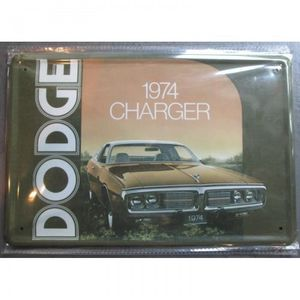 hotrodspirit Plaque Dodge Challenger R//T Verte 426 hemi cuda tole pub