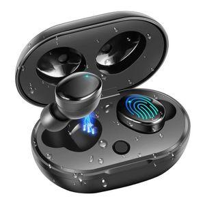 CASQUE - ÉCOUTEURS Casque Bluetooth 5.0 Sport HiFi Casque tactile sté