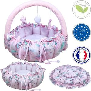 ciel de lit bebe rose achat vente ciel de lit bebe rose pas cher cdiscount. Black Bedroom Furniture Sets. Home Design Ideas