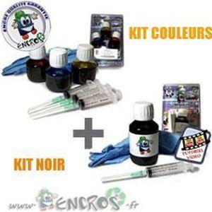 CARTOUCHE IMPRIMANTE RECHARGE ENCRE- HP301 Pack kits Encre Couleur + no