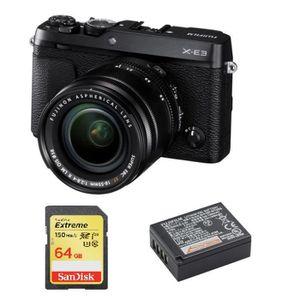 APPAREIL PHOTO RÉFLEX FUJI X-E3 Black KIT XF 18-55mm F2.8-4 Black + 64GB