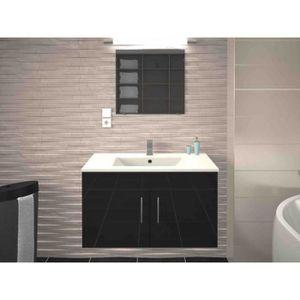 SALLE DE BAIN COMPLETE Meuble de salle de bain simple vasque 80 cm gris m