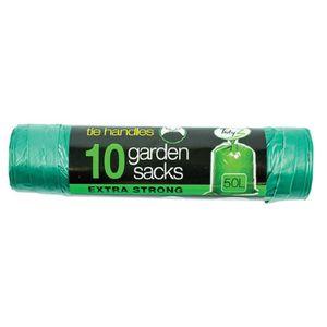 SAC POUBELLE Sacs à ordures de jardin verts 50 litres x 10 pack