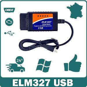 OUTIL DE DIAGNOSTIC Interface/Valise de Diagnostic ELM327 OBD2 USB - M