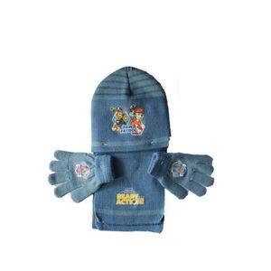 BONNET - CAGOULE ensemble bonnet gants echarpe pat patrouille bleu