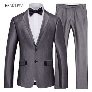 COSTUME - TAILLEUR Costume Homme Marque Luxe(Veste+Pantalon+Chemise)T
