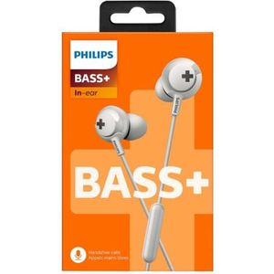 CASQUE - ÉCOUTEURS Philips BASS+ SHE4305WT Écouteurs avec micro intra
