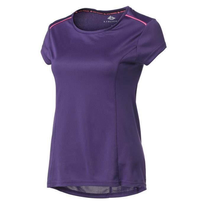 ATHLI-TECH T-shirt de running Abelia - Femme - Violet