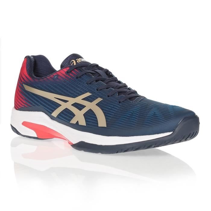 ASICS Chaussures de tennis Solution Speed FF - Homme - Marine