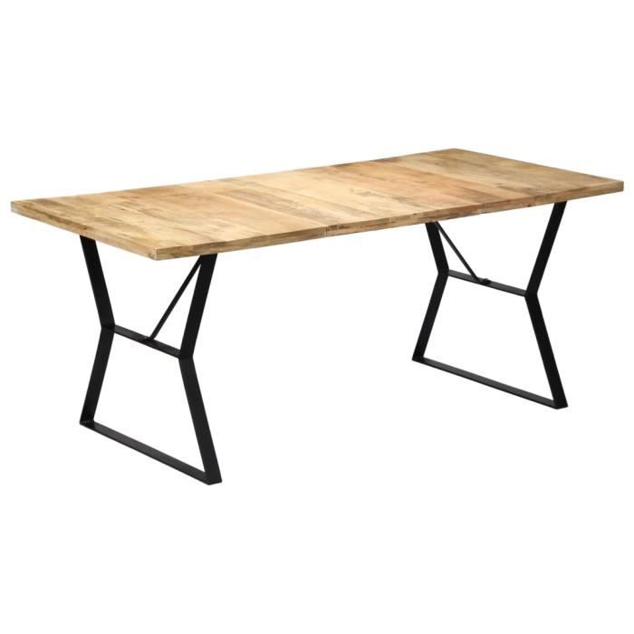 Table de salle à manger style industriel 180x90x76 cm Bois de manguier massif