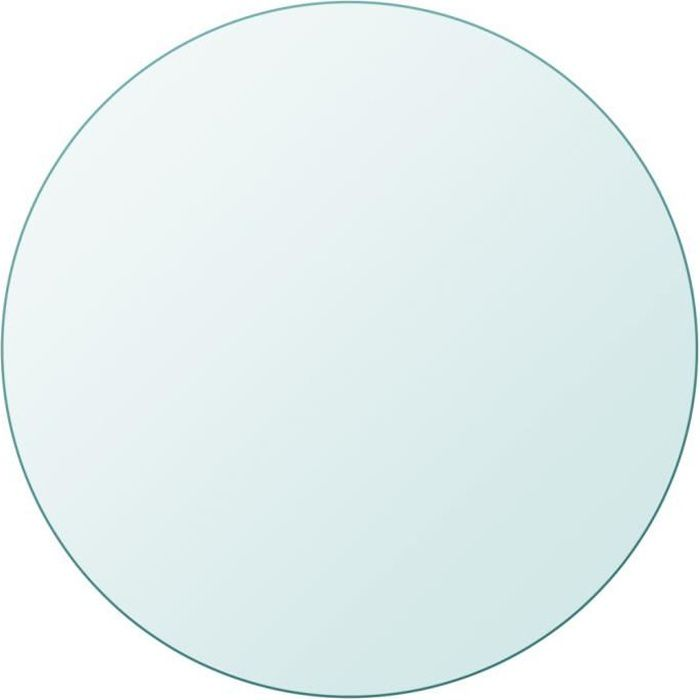 Plateaux de table Dessus de table ronde en verre trempe 700 mm