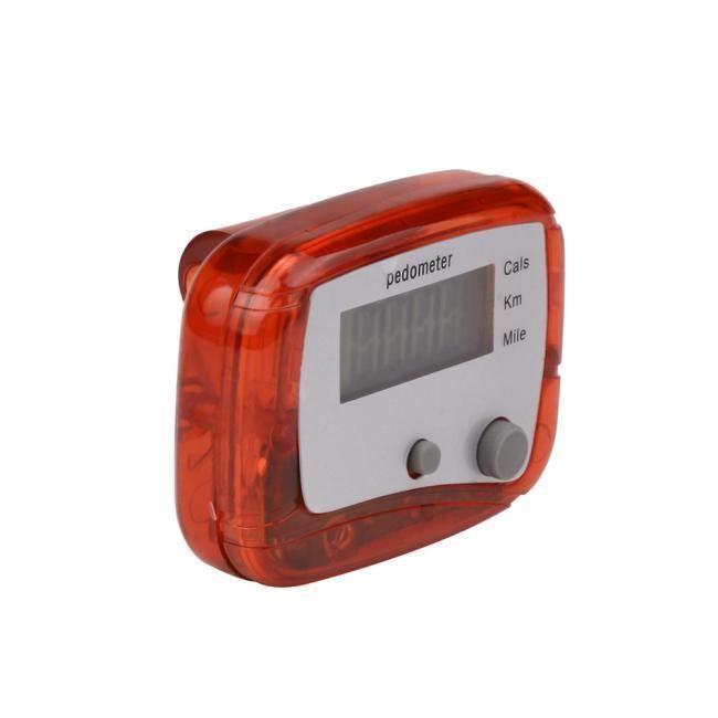 LCD podomètre Step Walking Calorie Counter distance fitness + clip ceinture LIU60903802RD HN