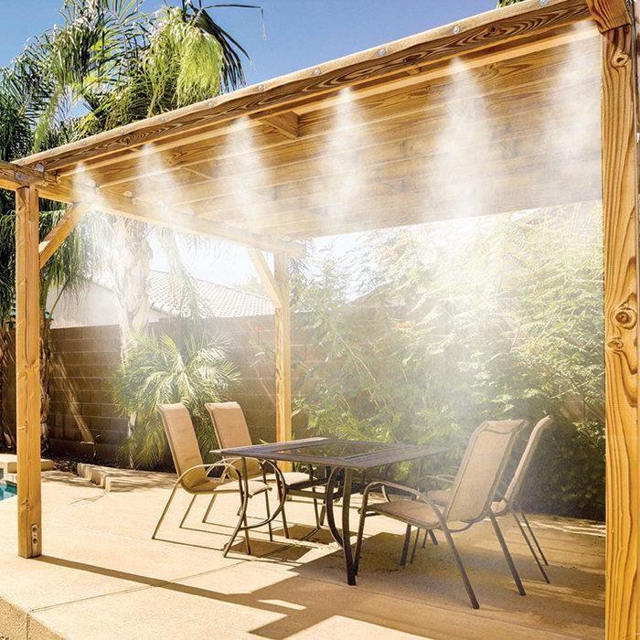 Brumisateur terrasse jardin 7,5 buses laiton haute qualité
