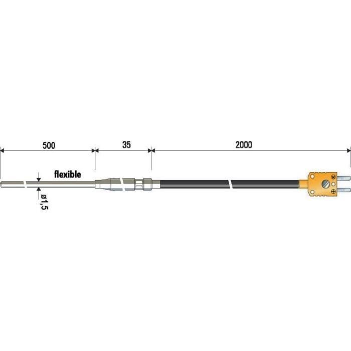 Thermo-élément à gaine avec un câble de compens…