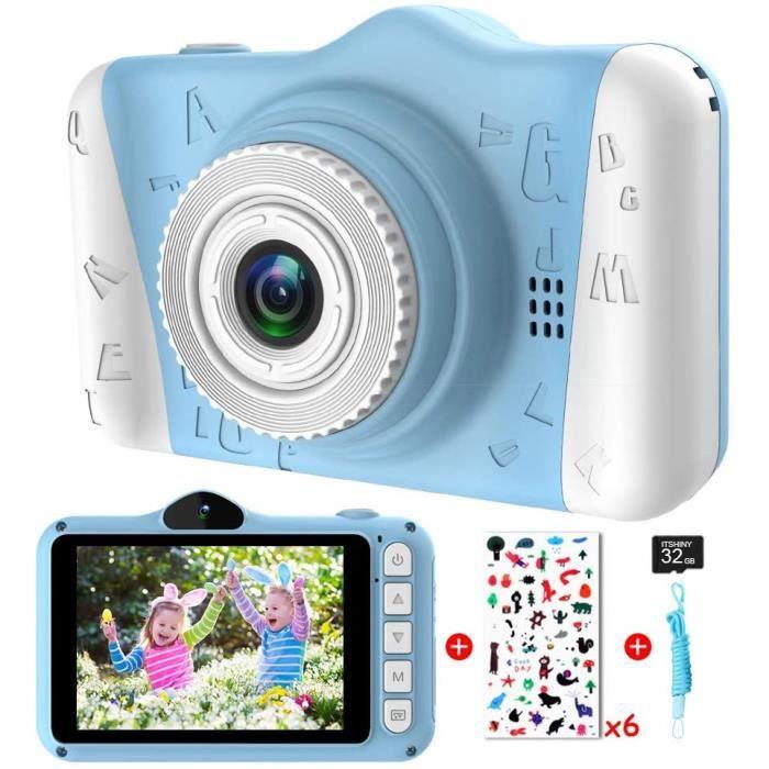 ITSHINY Appareil Photo Enfants - Appareil Photo Numérique pour Enfants avec 3,5 Pouces Grand écran 1080P HD 12MP Carte SD 32 Go Inté