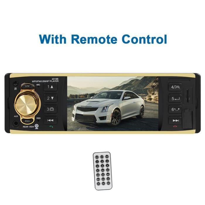 4019B 4.1 pouce 1 un Din Autoradio Audio stéréo AUX FM Radio Station Bluetooth Autoradio Support caméra de recul - Type 02