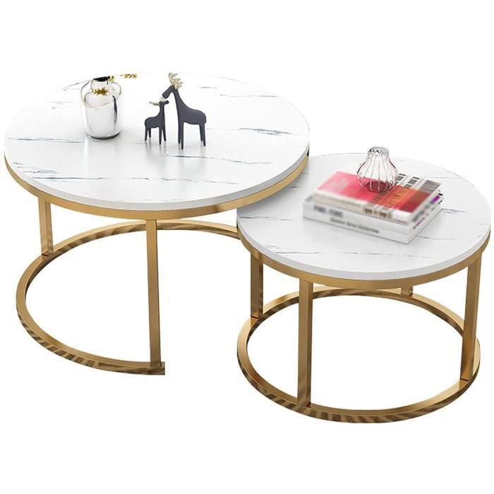 aison Salon Lumineux Luxe Ronde Table Ronde Combinaison Petite Table de Table Xuan Worth Having (Color : WhiteSize : 70cm+50cm) 640