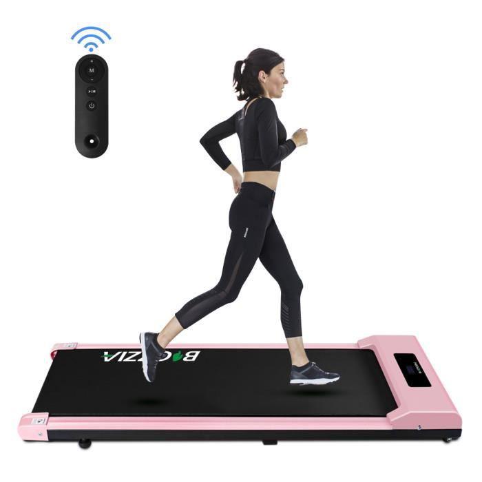 [Soultodaydeals] Tapis de Course Electrique Portable, Vitesse Réglable maximale 10 km/h, Écran LCD, Silencieux, Roues de Transport