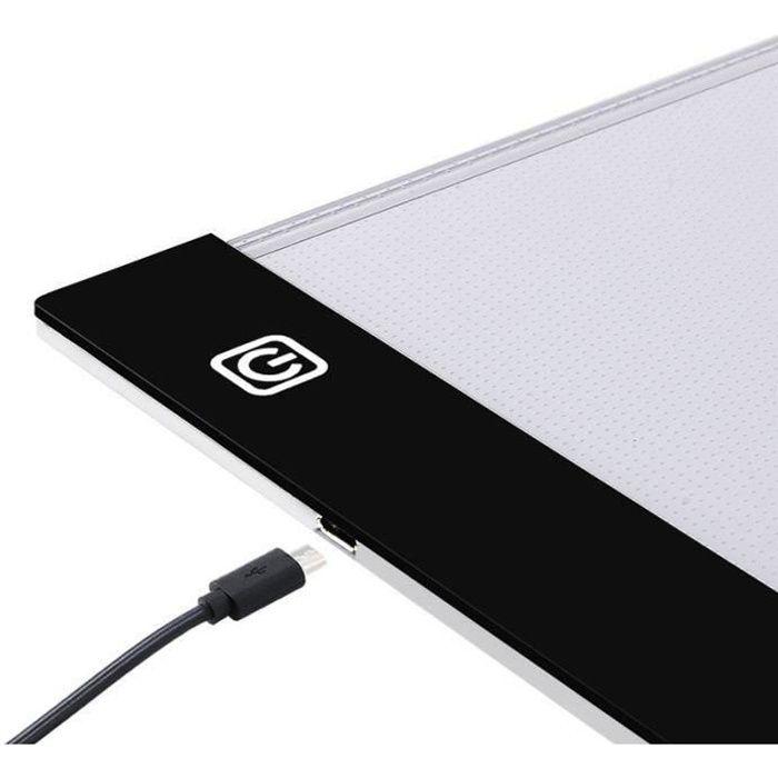 Tablette Lumineuse A4 LED Pad Pour Dessiner Dessin 3Modes