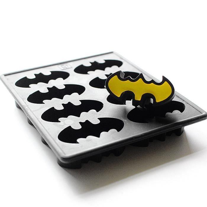 Rafraichisseur vin,Batman, congélateur en Silicone, moule à savon en chocolat, plateau à glaçons, ailes de chauve souris, super