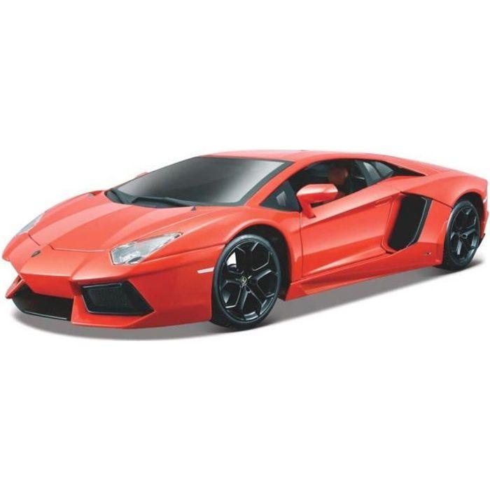 Bburago voiture de sport Lamborghini Aventador 1:18 rouge