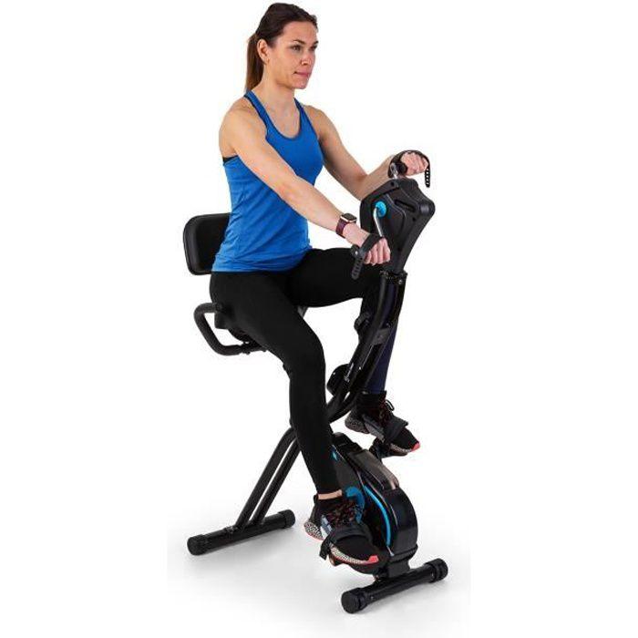 Vélo d´appartement - Capital Sports Azura Full Body Comfort - 7,5kg - Pédale antidérapante - siège confortable réglable en hauteur