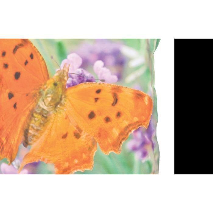 Coussin extérieur imperméable papillon Large Multicolore