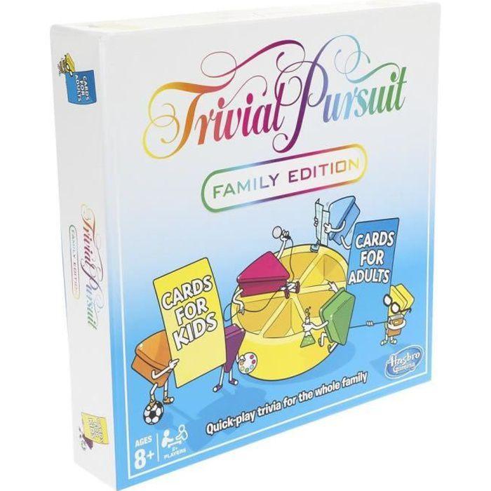 Hasbro Trivial Pursuit Family Edition, Jeu de questions, Enfants et adultes, Garçon-Fille, 8 année(s), 400 pièce(s)
