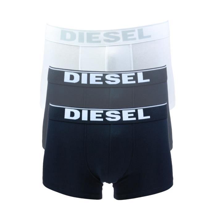 DIESEL Pack Boxers Stretch Kory Blanc/Gris/Noir Homme