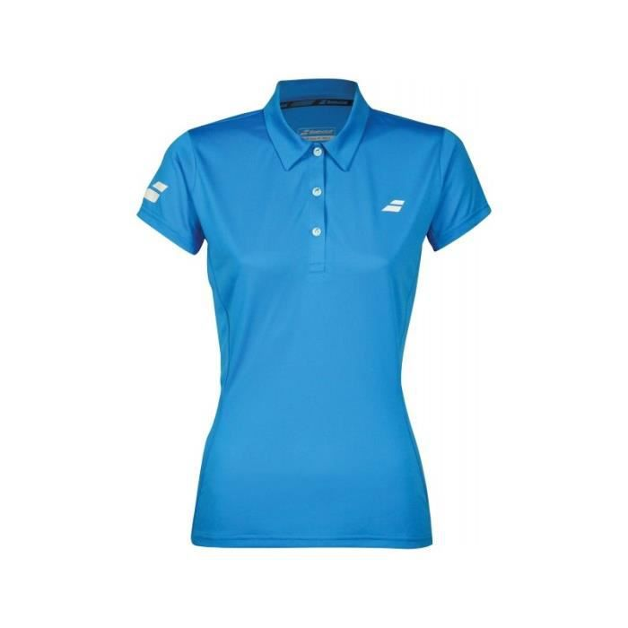 Polo BABOLAT Femme Core Club Polo W Bleu PE 2018