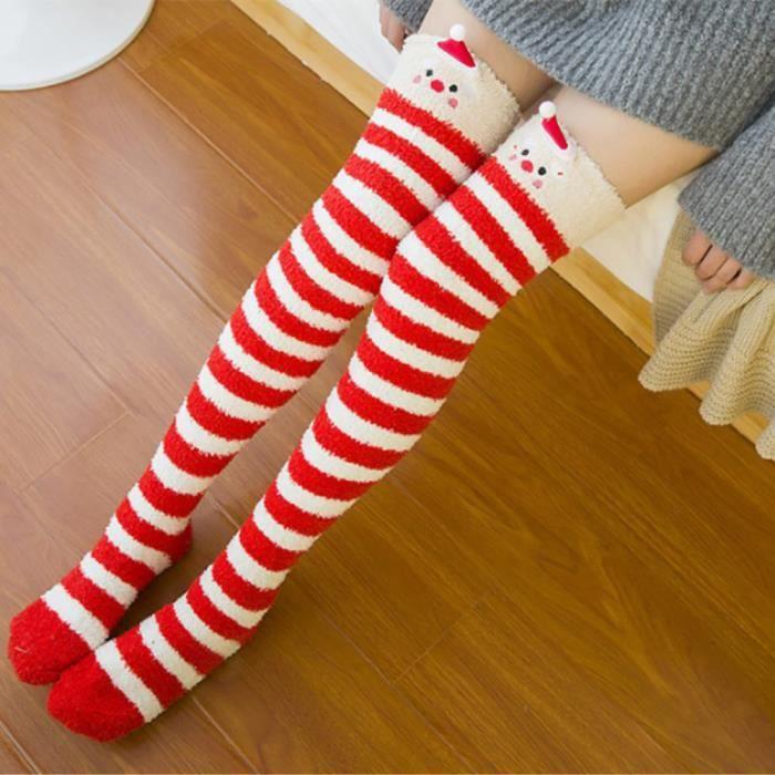 Chaussettes pour femmes épaisses et chaudes pour l'hiver Chaussettes