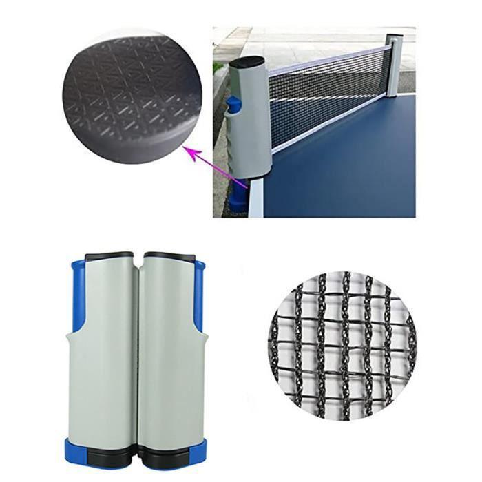 Accessoire de ping-pong de support de filet de tennis de table rétractable de support de filet de ping-pong portatif