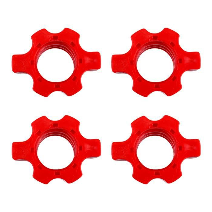 4 Pcs Dumbbell Bar Nut Barbells Spin Screw Clamp Fitness Equipment Accessories BARRE - HALTERE - POIDS