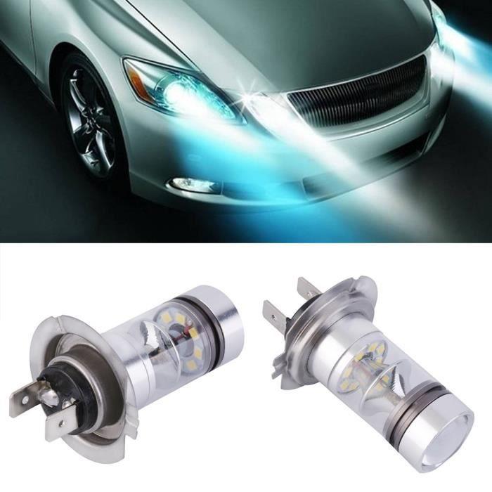 Ampoule DRL,1x HID Blanc H7 6000K 100W LED 20-SMD Projecteur brouillard conduisant ampoule DRL