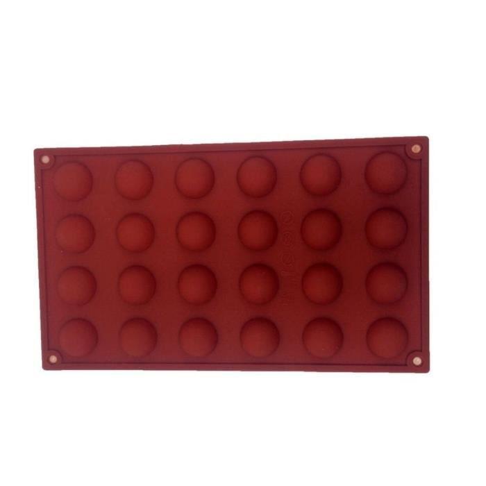 24 demi-sphères de gâteau de silicone moule de gâteau bricolage moule antidérapable de cupcake réutilisable très résistant